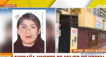 Villa El Salvador: Hallan muerta a mujer en interior de habitación de hostal - Diario Perú21