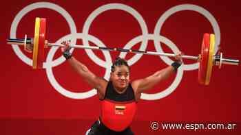 Mercedes Pérez termina cuarta en las pesas de 64 kilogramos en los Juegos Olímpicos - ESPN