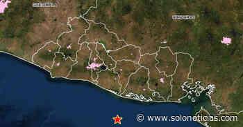 Sismo de 4.2 sacudió esta mañana la costa de Usulután - Solo Noticias