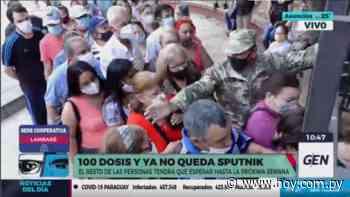 Incidentes en vacunatorio de Lambaré: cientos quedaron sin su segunda dosis de Sputnik - Hoy