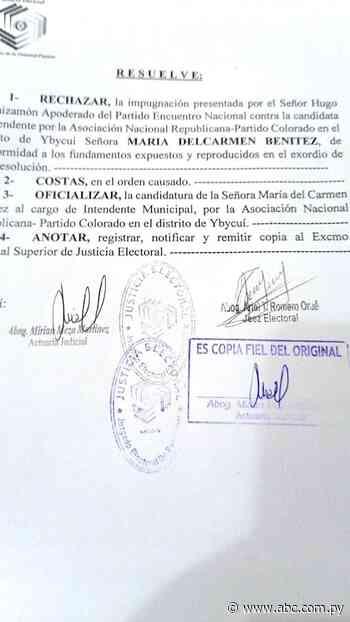 Juez Electoral rechaza pedido de impugnación de candidata a intendente de Ybycuí - ABC Color