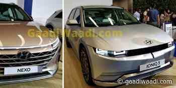 Hyundai Showcases Nexo FCEV & Ioniq 5 Electric Crossover In India - GaadiWaadi.com