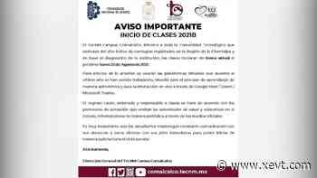 Inicio de clases en Tecnológico de Comalcalco será de manera virtual ante repunte de contagios de coronavirus en la Chontalpa - XeVT 104.1 FM | Telereportaje