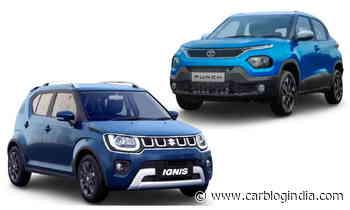 Tata Punch vs Maruti Ignis - Which Micro-SUV Looks Better? - Car Blog India