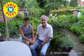 """Luc Van Cauter en Stefanie Van Raes genieten van hun stadstuin in Jette: """"Iedere ochtend krijgen we een spekta - Het Nieuwsblad"""