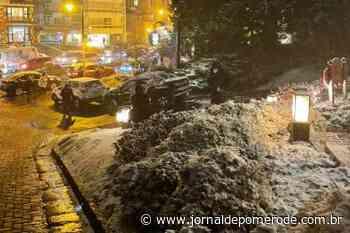 Vídeo: Pomerodense registra neve em Gramado, no Rio Grande do Sul - jornaldepomerode.com.br