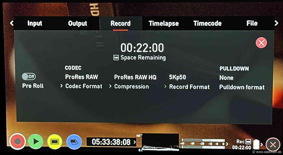 Test : Canon EOS R5 ohne Hitzelimit bei 8K 25p und 5K 50p ProRes RAW mit dem ATOMOS Ninja V+ ? - slashCAM