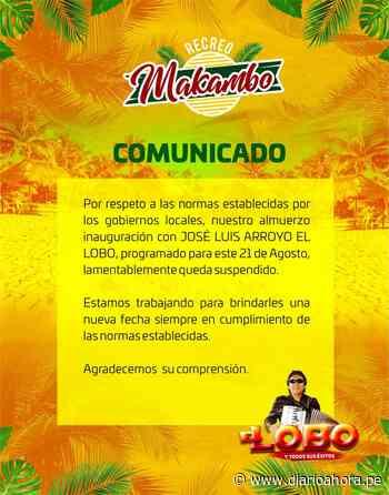 """Suspendieron evento """"El Lobo"""" en Pucallpa - DIARIO AHORA"""