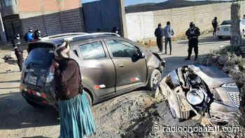 En Ilave accidente de tránsito, deja daños materiales - Radio Onda Azul