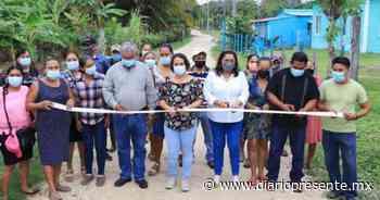 Nuevos caminos engravillados y techado escolar entrega el gobierno de Comalcalco a familias de comunidades rurales - Diario Presente