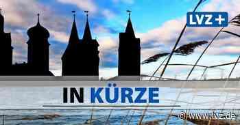 Delitzsch: Neue Brücke schwebt über dem Lober ein - Leipziger Volkszeitung