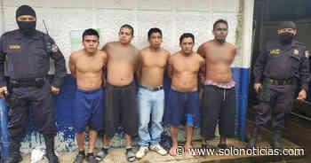 Capturan a miembros de diferentes pandillas en Sonsonate - Solo Noticias