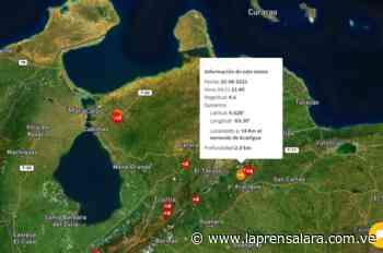 Funvisis reporta sismo de 4.6 al noreste de Acarigua - La Prensa de Lara