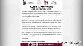 Inicio de clases en Tec de Comalcalco será de manera virtual ante repunte de contagios - XeVT 104.1 FM | Telereportaje