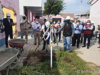 Lambayeque: inician la reconstrucción de la escuela Santa Rosa en Mochumí - Agencia Andina