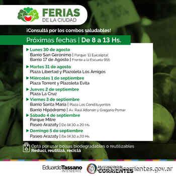 Las Ferias de la Ciudad llegan a los barrios San Gerónimo, 17 de Agosto, Santa María e Hipódromo - Municipalidad de Corrientes