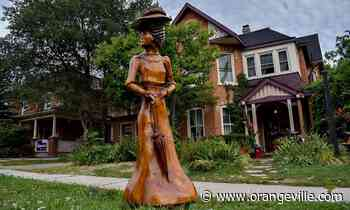 'Art that moves and makes people think': Victorian Lady graces Orangeville's downtown - Orangeville Banner