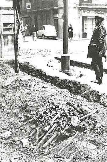 Restos arqueológicos en la plaza de San Francisco, 1966 - Noticias de Navarra