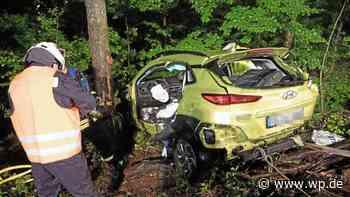 Netphen: Pkw stürzt in Abhang – Fahrer von Feuerwehr befreit - Westfalenpost