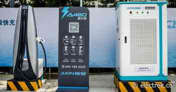 GAC-Aion unveils 480 kW fast charger, well below previously rumored 600 kW - Electrek.co