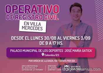El operativo del Registro Civil llega a Villa Mercedes - Agencia de Noticias San Luis