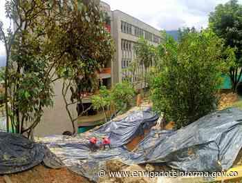 Avanza la construcción de la cobertura de la quebrada La Minita - Envigado Informa