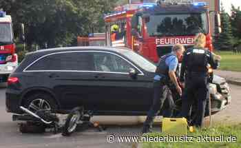 Simsonfahrer bei Vorfahrtsunfall in Spremberg verletzt - Niederlausitz Aktuell - NIEDERLAUSITZ aktuell
