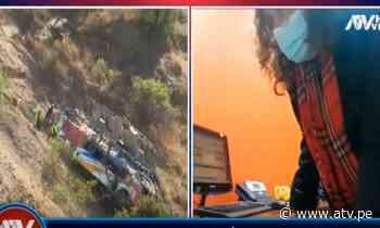 Tragedia en Matucana: Empresa dueña de bus siniestrado se pronuncia parcialmente sobre accidente - ATV.pe