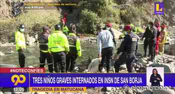 Accidente en Matucana: Tres niños en estado grave en el INS de San Borja - El Comercio Perú