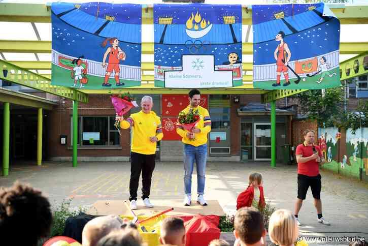 """Olympiërs op bezoek in basisschool Kleine Stan: """"Hen nog het volkslied geleerd"""""""