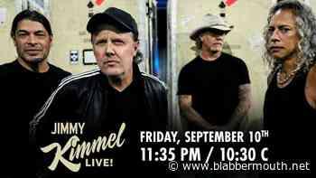METALLICA To Perform On 'Jimmy Kimmel Live!' Next Week - BLABBERMOUTH.NET