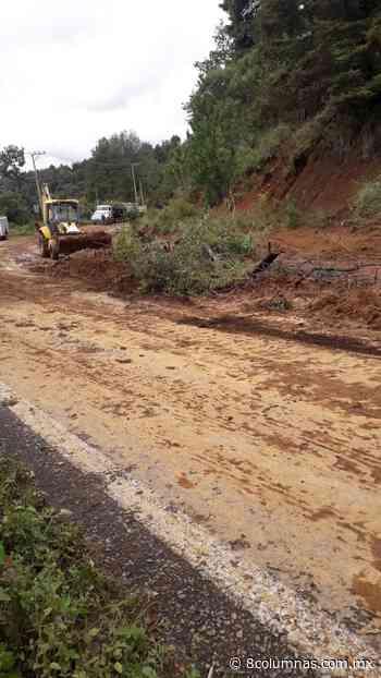 Por deslave, continúan labores en la carretera Tenancingo-Tenango - 8 Columnas - 8 Columnas