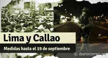 Lima y Callao: estas son las restricciones hasta el domingo 19 de septiembre - Diario Correo