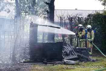 """Hevige brand legt twee tuinhuizen in de as: 'Ik dacht dat de buur aan het barbecueën was"""""""
