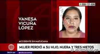 Una familia completa pereció en el accidente de Matucana - El Comercio Perú