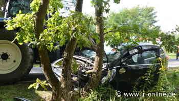Unfall bei Spremberg : Polizei fahndet nach Autofahrer mit Pick-up in Tarnfarbe - Lausitzer Rundschau
