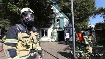 Das war knapp - Feuerwehr rettet das älteste Haus von Wedel - BILD