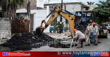 Comapa repara colector sanitario de la Tinaco en Madero - Hoy Tamaulipas