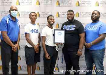 UAPB Beta Theta Chapter of the Phi Beta Sigma Fraternity, Inc. Wins Award for Highest GPA - UAPB News