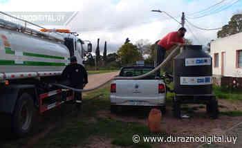 IDD puso tanques de agua potable en Santa Bernardina - duraznodigital.uy