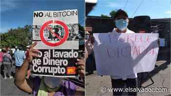 Protestas en Usulután en rechazo a la entrada en vigencia de la Ley Bitcoin - elsalvador.com