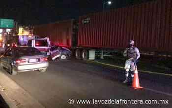 Manejaba ebrio por la carretera a San Felipe; su acompañante murió - La Voz de la Frontera