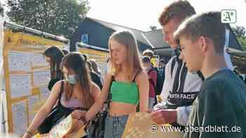 Politische Bildung per Sticker auf dem Markt in Reinbek - Hamburger Abendblatt