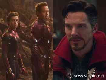 Benedict Cumberbatch says Robert Downey Jr. and Tom Holland's improv skills inspired him to go off-script and call Iron Man a 'douchebag' in 'Infinity War' - Yahoo News