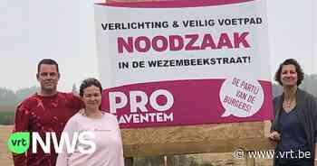 Burgemeester Zaventem wil borden weg die oppositiepartij langs de kant van de weg heeft gezet - VRT NWS