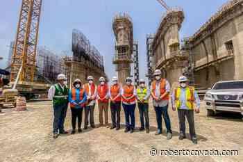 Senadores supervisan presa de Monte Grande, piden al contratista agilizar la construcción - Roberto Cavada