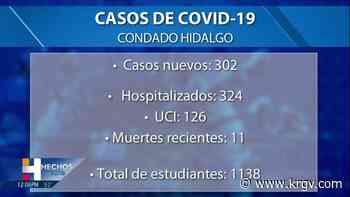 El condado Hidalgo reporta 11 muertes relacionadas con coronavirus, 302 casos positivos - KRGV