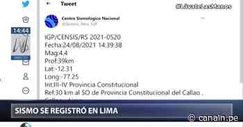 Sismo en Lima: IGP informa que el epicentro fue en el Callao - Canal N
