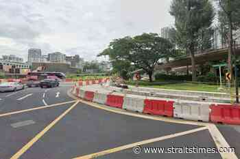 New U-turn before Newton Circus added to ease traffic at roundabout - The Straits Times