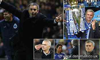 A famous celebration and a 5-0 pasting - Jose Mourinho's highs and lows as he reaches 1,000 games